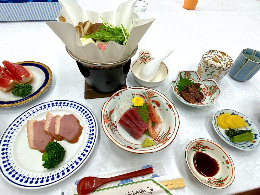 清里宿舎での食事